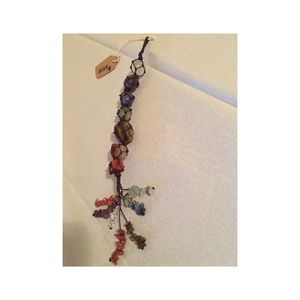 None Jewelry - Natural crystal stone pendant 7 Chakra Tassel